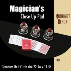 Magician's Half Circle Close Up Pad (Midnight Black) 22.5