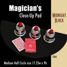 Magician's Half Circle Close Up Pad (Midnight Black) 17.25