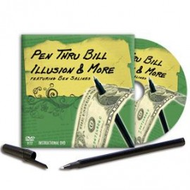 Pen Thru Bill Illusion & More (w/Instructional DVD)