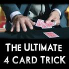 The Ultimate 4 Card Trick (w/Instructional DVD)