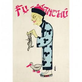 Fu Manchu Rabbit Poster